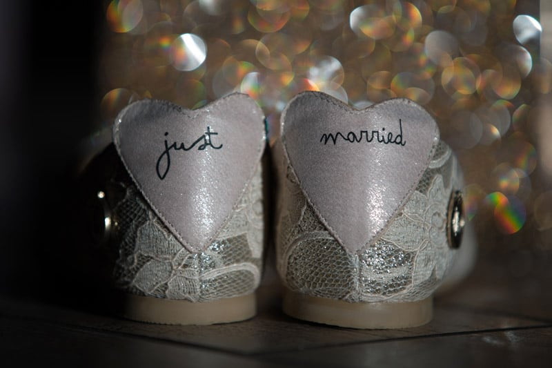 wedding shoes at Music Box Supper Club
