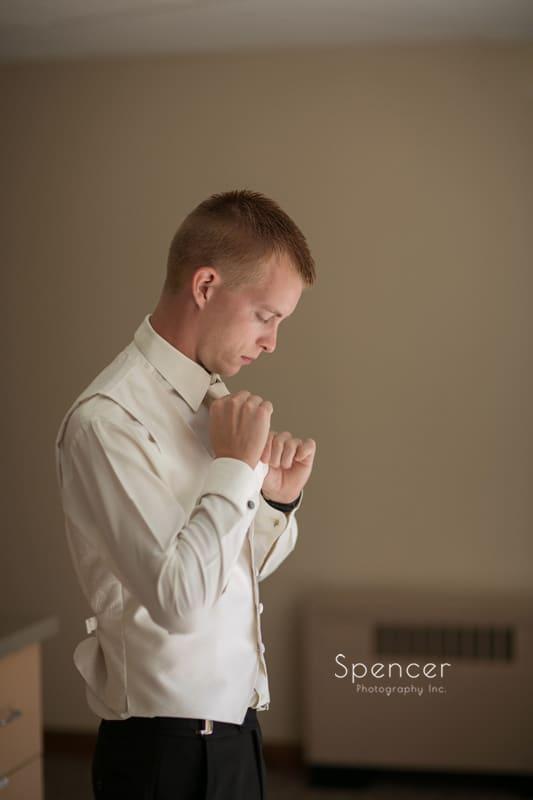 groom button up wedding day tux shirt