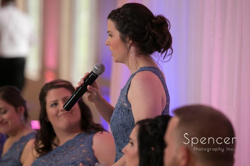 maid of honor reception speech