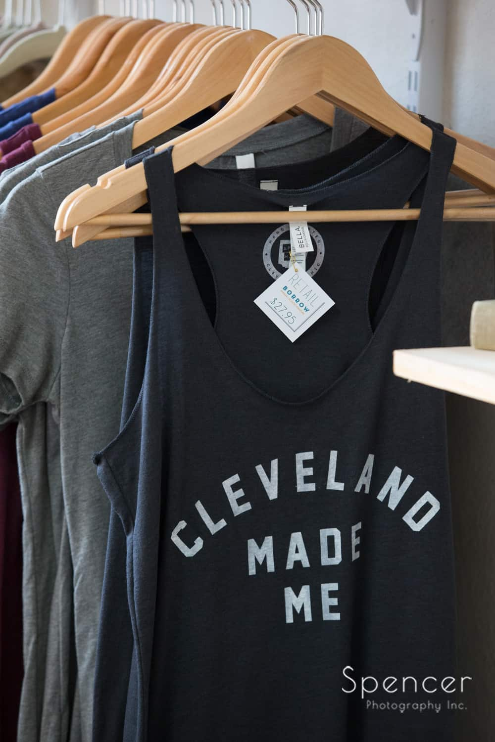 Cleveland shirt at Borrowed Rental event