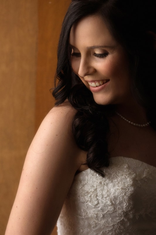 wedding day portrait of bride
