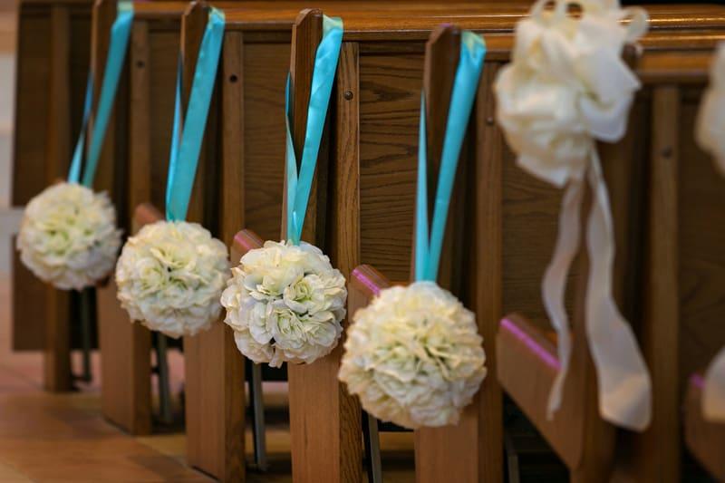 wedding detail at St. John Vianney