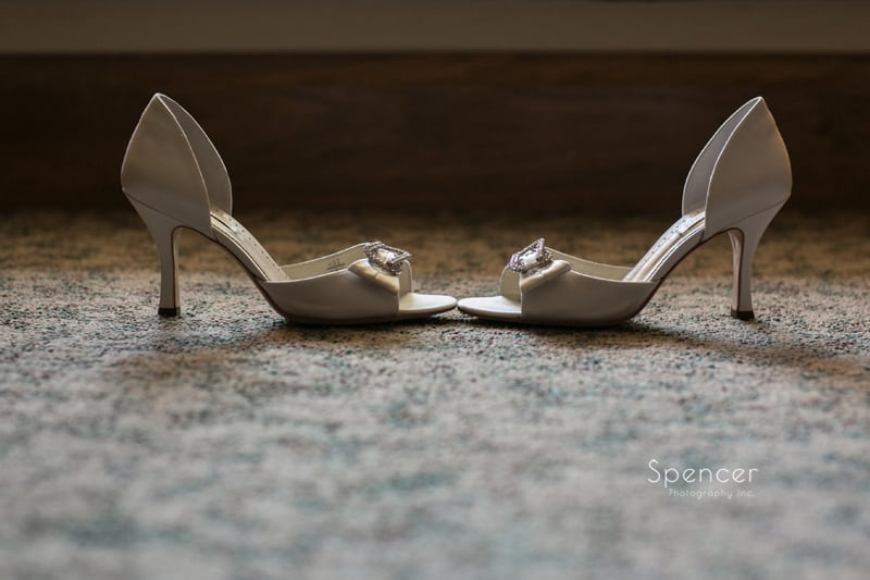 cleveland bride wedding day shoes