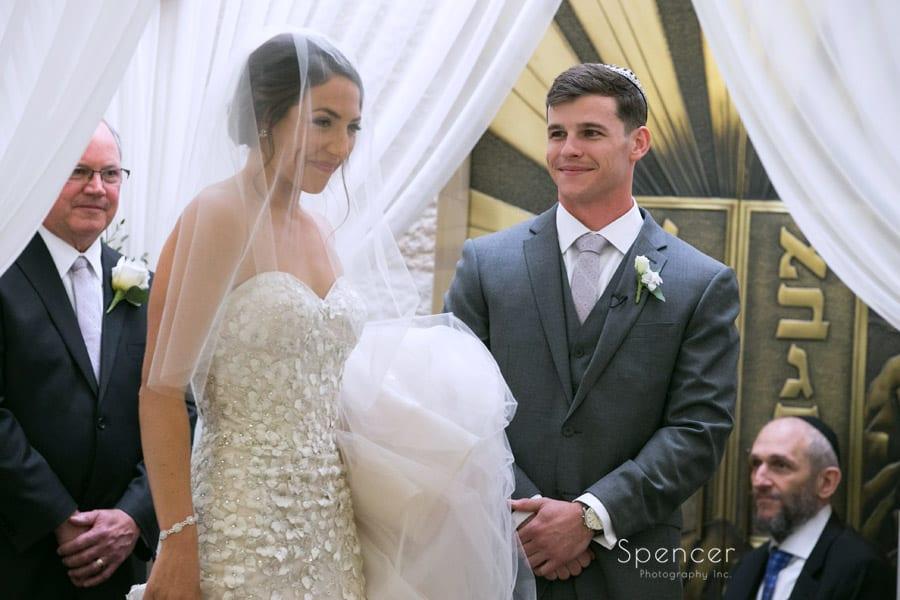 revere road synagogue wedding ceremony