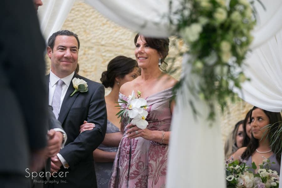 parents of the bride at revere road synagogue wedding