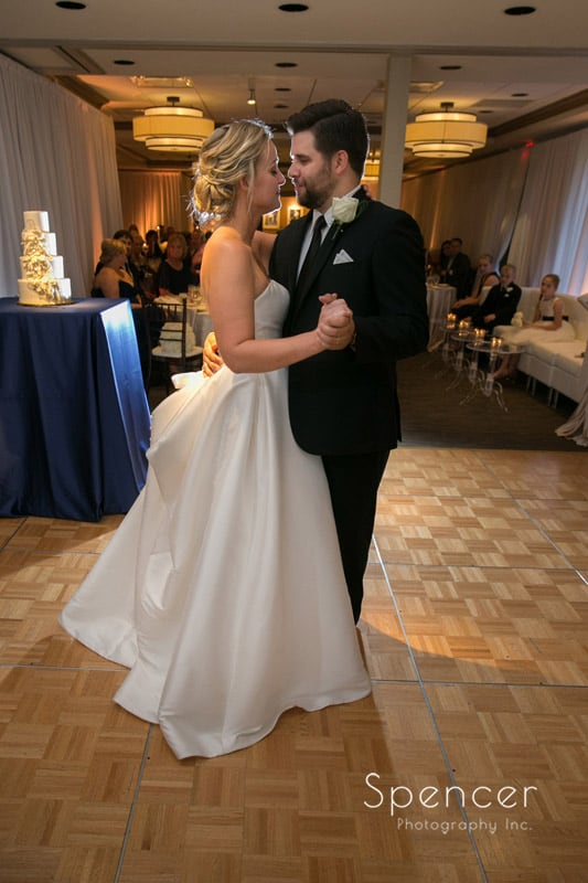 first dance at firestone country club wedding reception