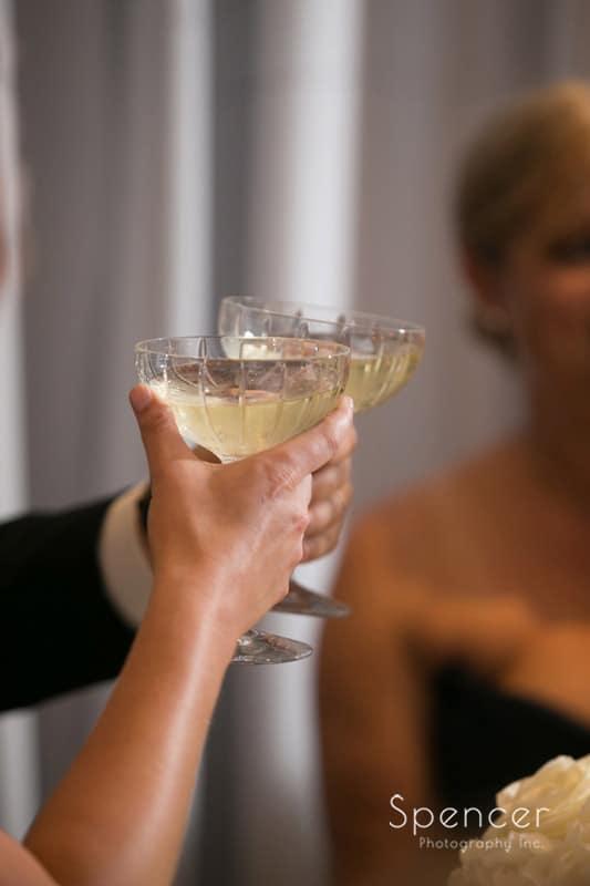 champagne toast at firestone reception