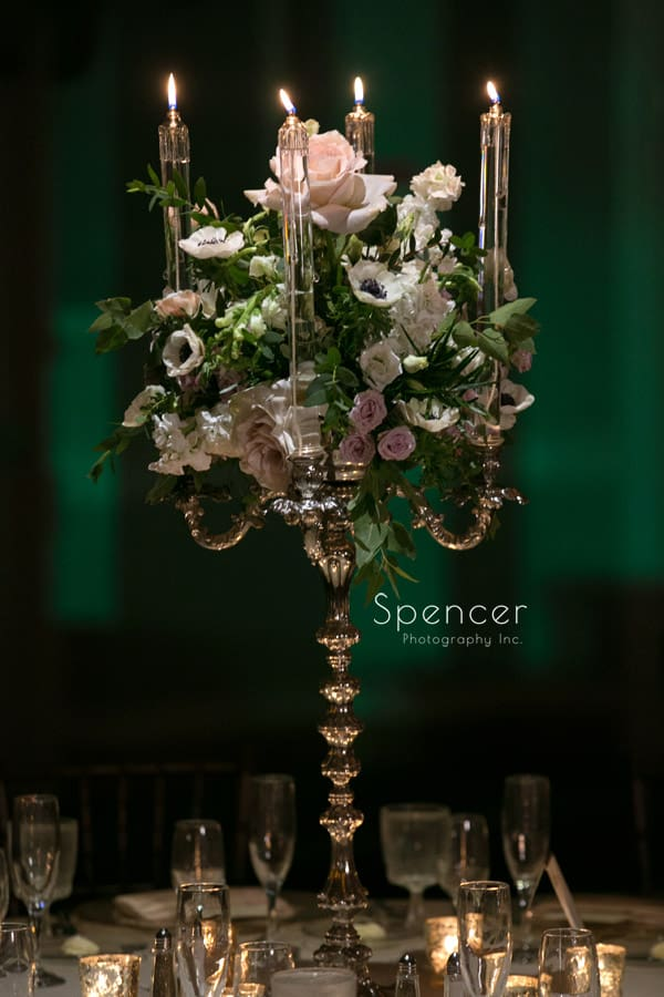 Peter Bouterse wedding centerpiece a Akron Hilton