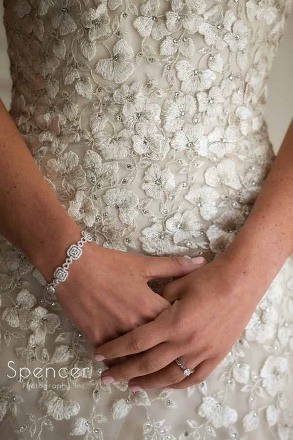 detail picture of liancarlo wedding dress