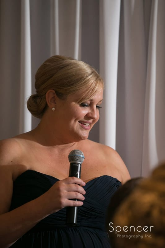 matron of honor speech at fireston wedding reception