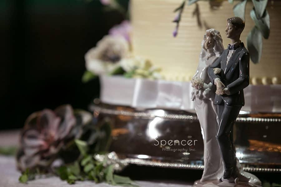 wedding reception detail at Akron Hilton
