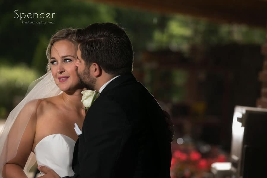 bride and groom on their wedding day at firestone country club