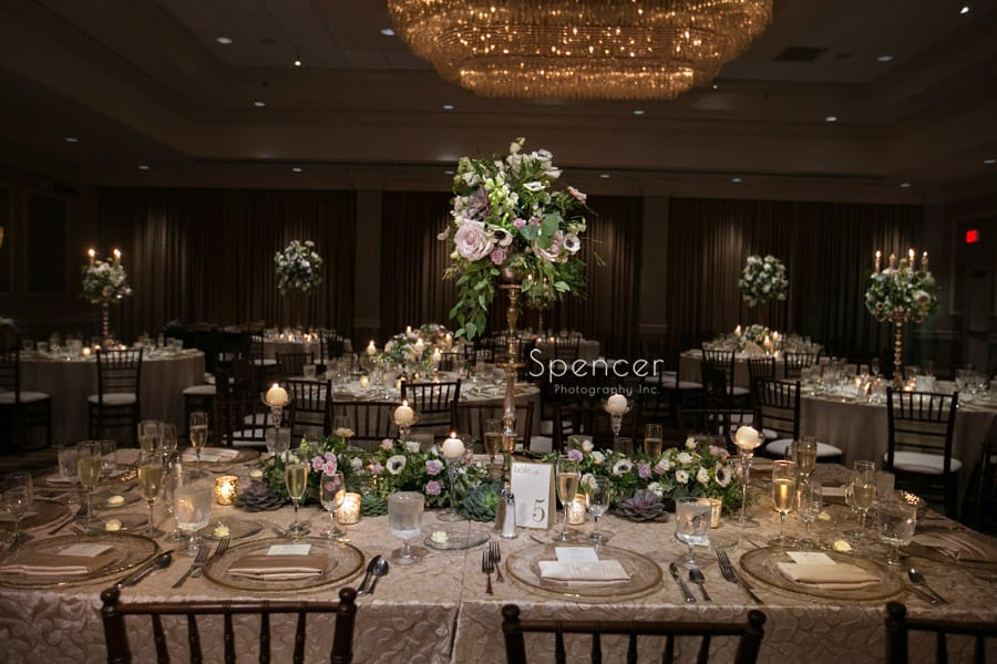 Peter Bouterse reception table at akron hilton