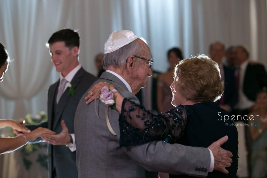 grandparents of bride dance at akron hilton reception