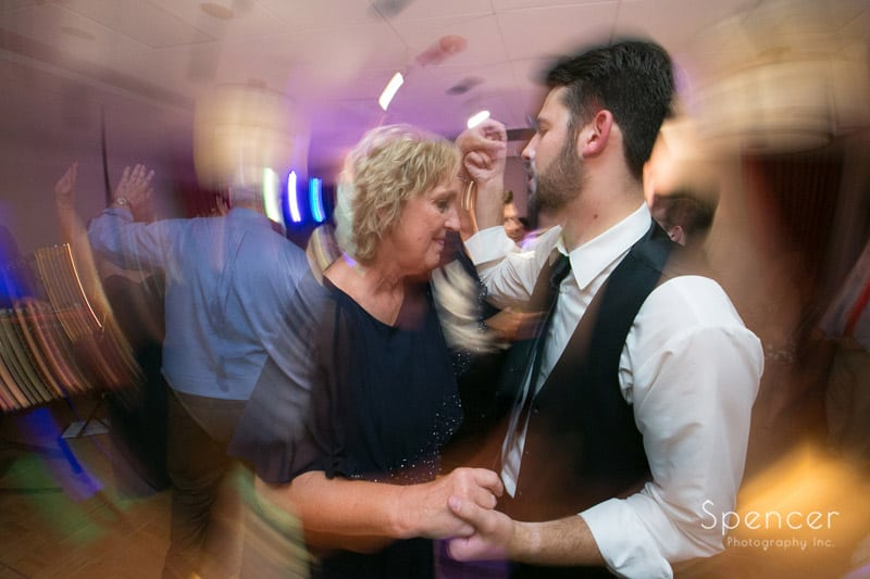 mother of bride dancing at firestone reception