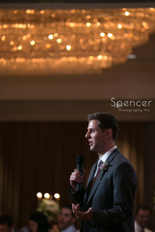 best man speech at akron hilton wedding reception