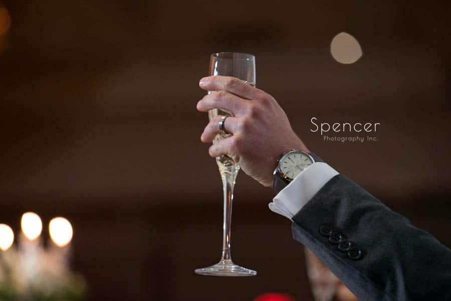a wedding reception toast at akron fairlawn hilton