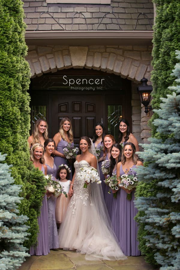 group photo of bride with bridesmaids