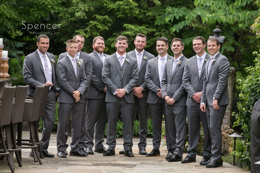 group photo of groom with groomsmen