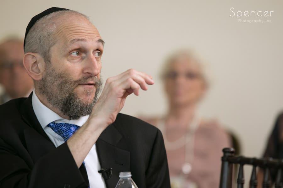 rabbi speaking at revere road synagogue wedding