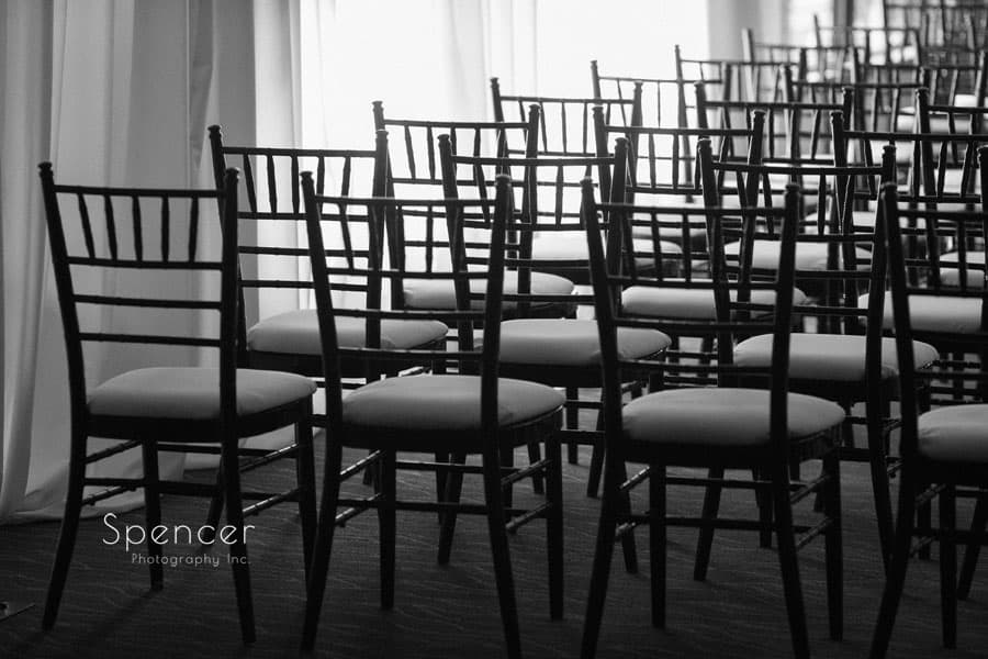 chairs set for wedding ceremony at Firestone Country Club