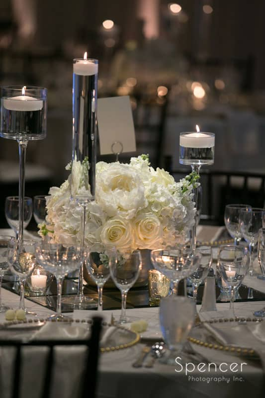 neil leeson centerpiece at firestone country club wedding reception