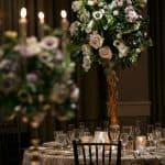 centerpiece at Hilton Akron wedding reception