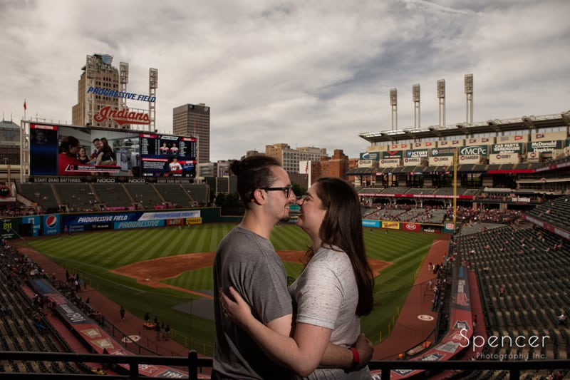 wide angle engagement picture at progressive field cleveland