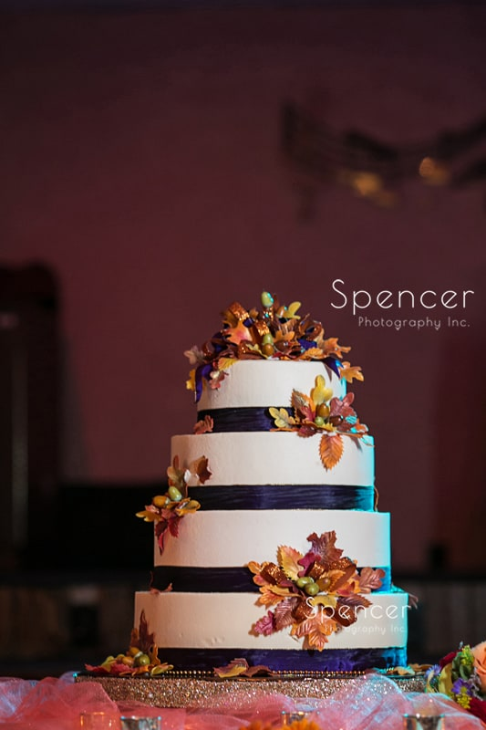 wedding cake at Springvale Ballroom reception