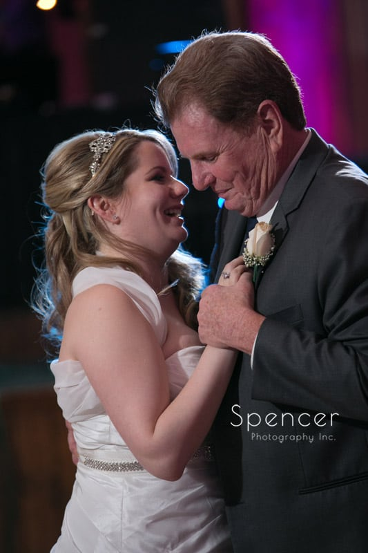 bride dancing with father at Springvale Ballroom wedding reception