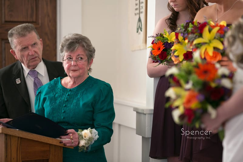 grandmother of bride giving ceremony speech