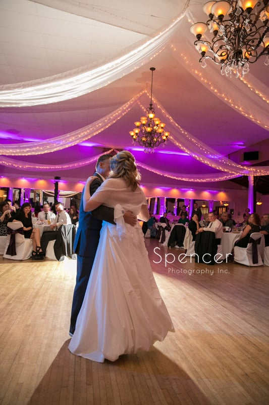 first dance wedding reception picture at Springvale Ballroom