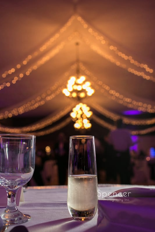 champagne flute at Springvale Ballroom wedding reception
