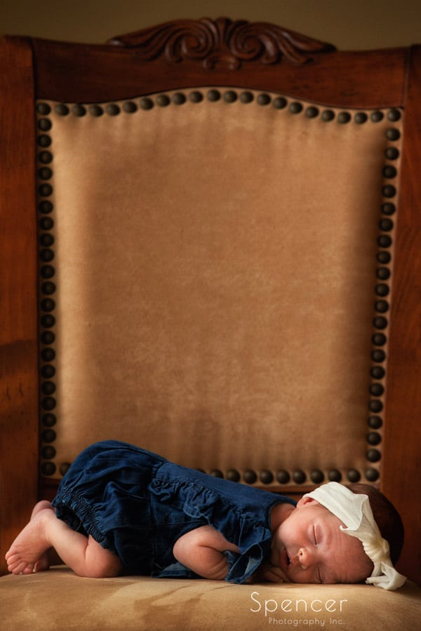 cleveland newborn baby sleeping in creative picture