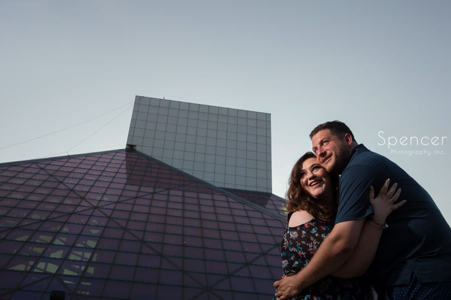 Engagement Pictures // Rock and Roll Hall of Fame Cleveland
