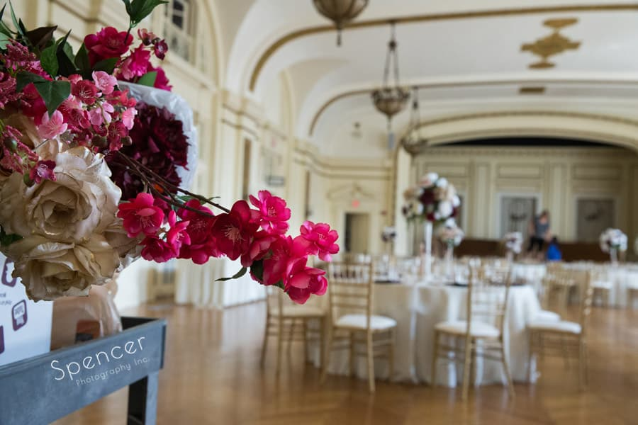 wedding centerpieces at Greystone Hall