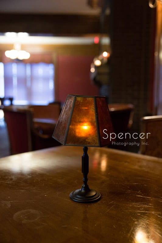 bar light at Greystone Hall Akron