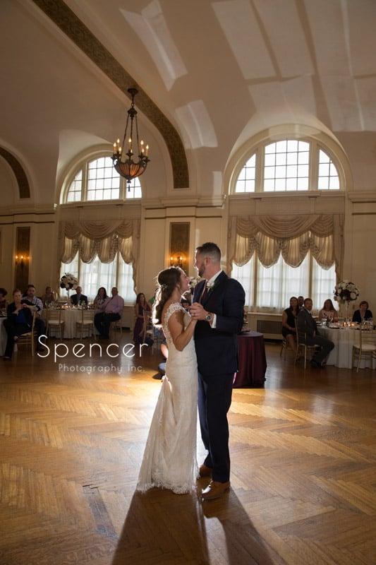 first dance at greystone hall wedding reception