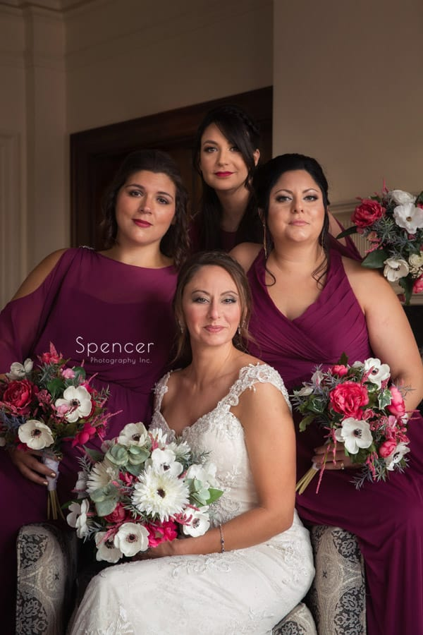 formal portrait of bridesmaids at Greystone Hall