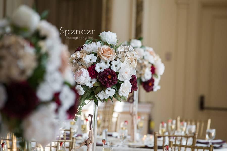 greystone hall wedding centerpieces