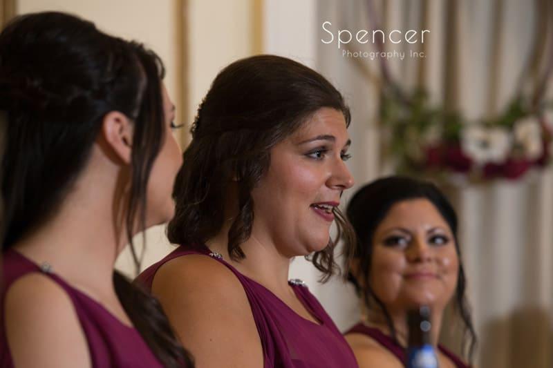 matron of honor reception speech