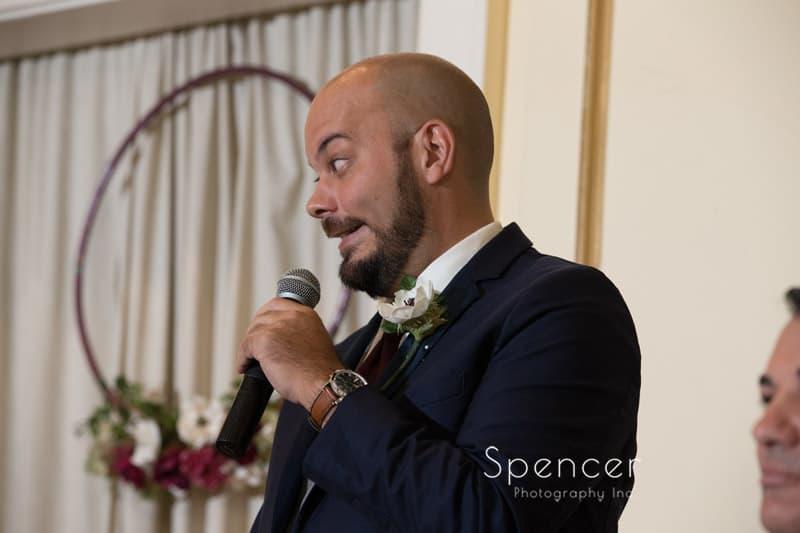 best man speech at Greystone Hall