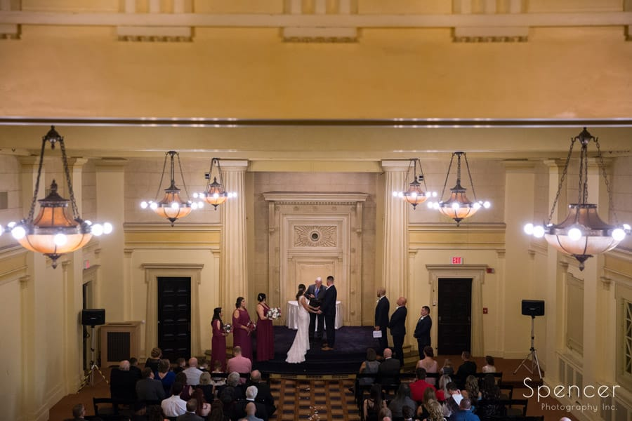 wedding cermeony at Greystone Hall akron