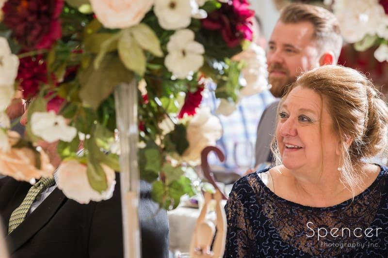 mother of bride at Greystone Hall reception