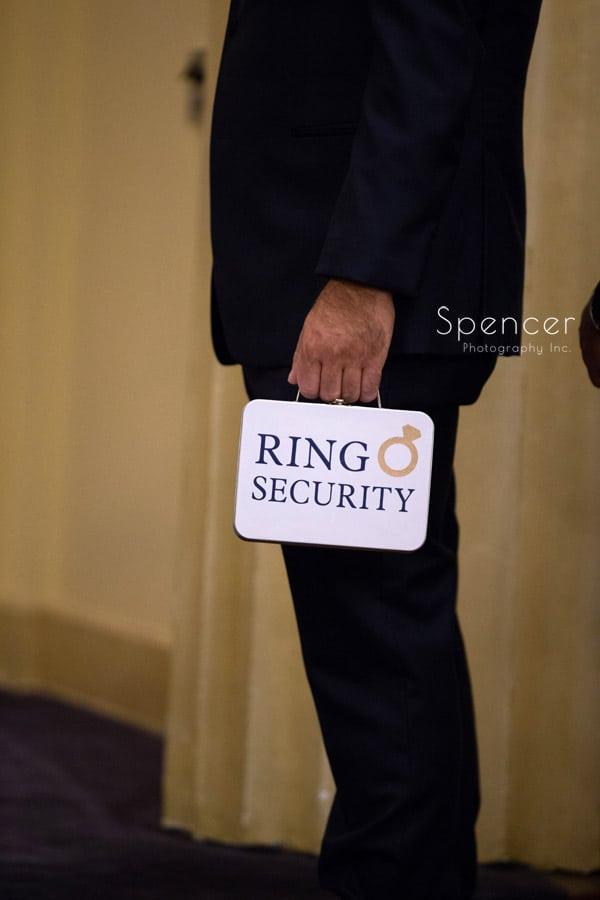 wedding ring box at Greystone ceremony