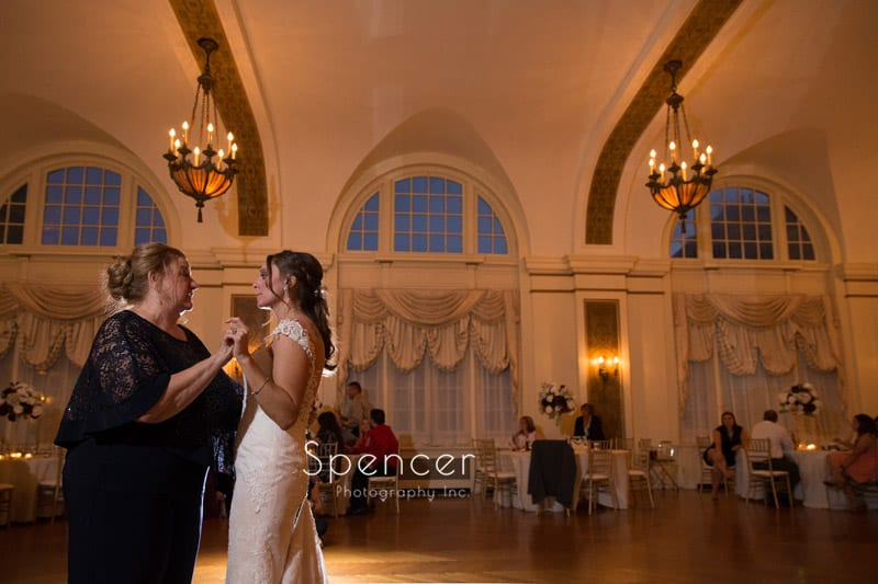 bride dancing with her mom at Greystone reception