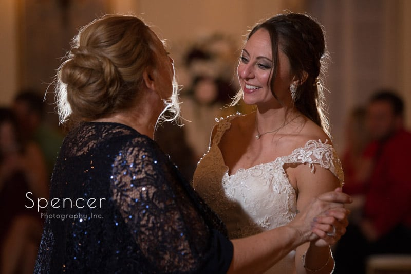 mother of bride dancing with bride at Greystone Hall