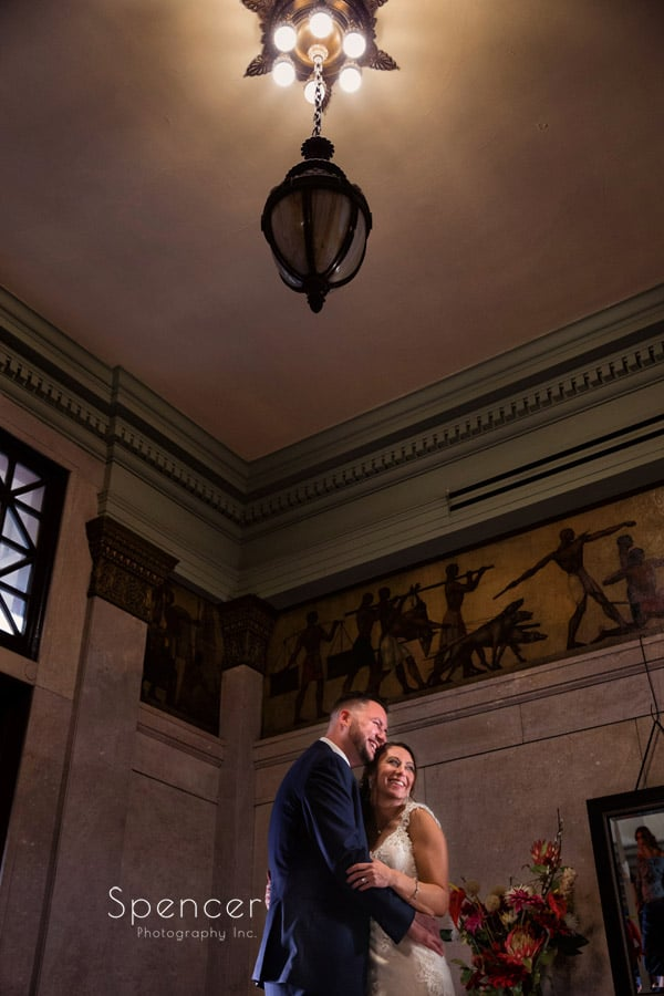 wedding portrait of bride and groom at Greystone Hall