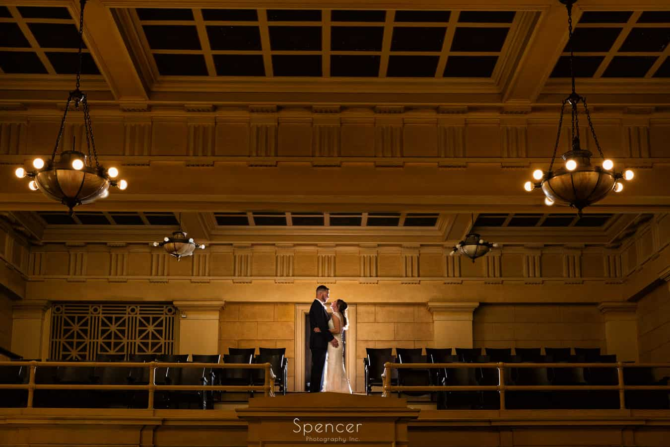 wedding day picture at greystone hall akron