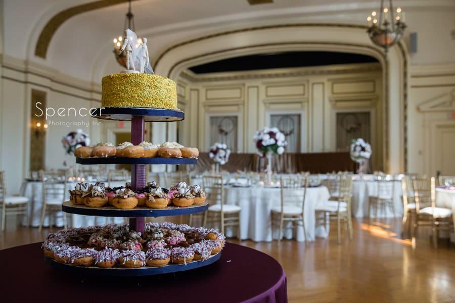 cupcake table at Greystone Hall wedding reception
